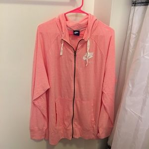 Nike Pink Zip Up Jacket Hoodie